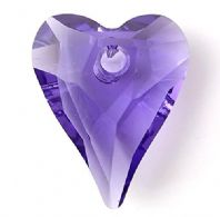 Tanzanite 12mm 6240 Swarovski Wild Heart Pendant